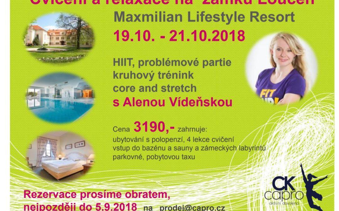 Sportovně-relaxační víkend na zámku Loučeň (říjen 2018)